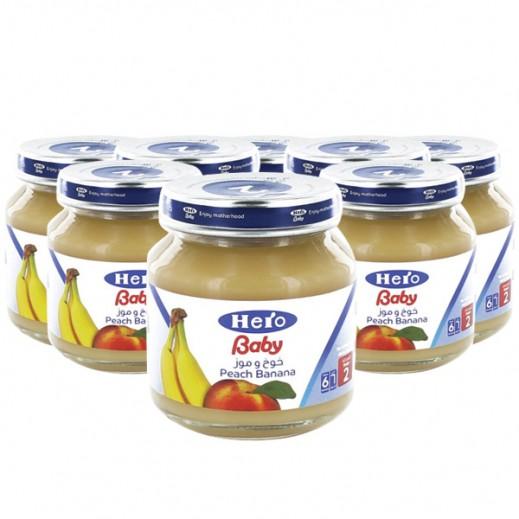 Wholesale - Hero Baby Food Jar Peach Banana 125 g (12 pieces)