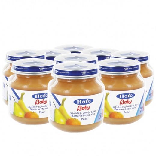 Wholesale - Hero Baby Food Jar Banana-Mandarin-Pear 125 g (12 pieces)