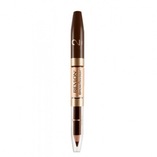 Revlon Brow Enhancer Fantasy Pencil & Gel Dark Brown (No 04)