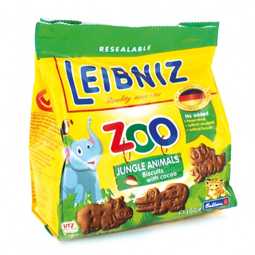 Leibniz Zoo Jungle Animals Biscuits with Cocoa 100 g