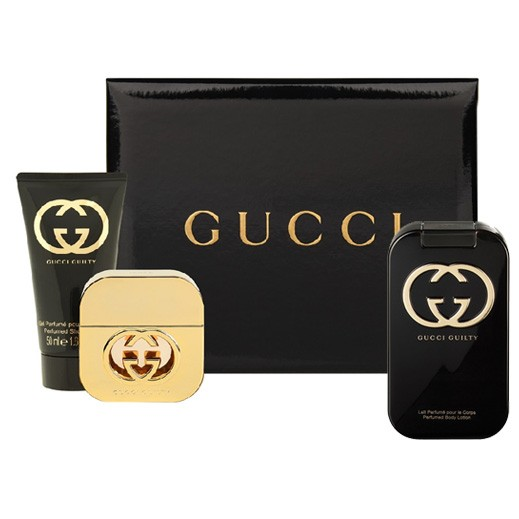 Gucci Guilty Gift Set For Her EDT 75ml + Body Lotion 100ml + Shower Gel 50ml