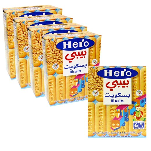 Wholesale - Hero Baby Food Biscuits 180 g (6 pieces)