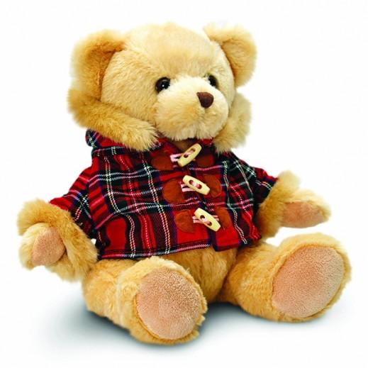 Keel Toys 25CM Hamish Bear with Tartan Coat