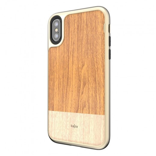 Kajsa Outdoor Back Case for iPhone X - Light Brown