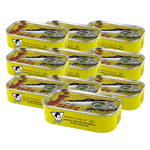 Wholesale -Josiana Sardine Normal In Oil 125 g (10 Pcs)