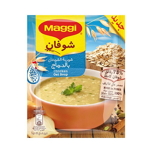 Maggi Soup Oat with Chicken 65g (Sachet)