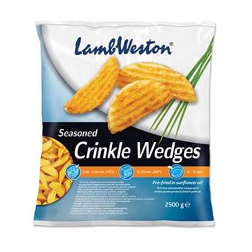 Lamb Weston Seasoned Crinkle Wedges 2.5 kg