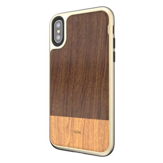 Kajsa Outdoor Back Case for iPhone XS / X - Dark Brown