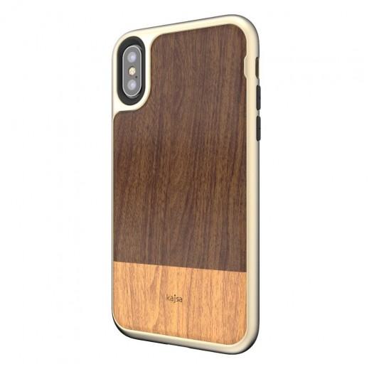 Kajsa Outdoor Back Case for iPhone X - Dark Brown