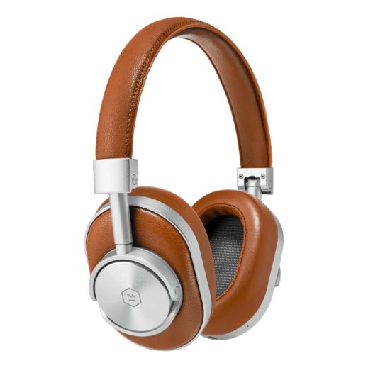 Master & Dynamic Wireless Over-Ear Headphones - Silver & Brown - delivered by New Market