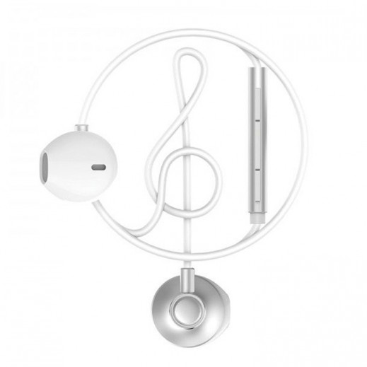 WK Design Wired Earphones 1.2 M - White