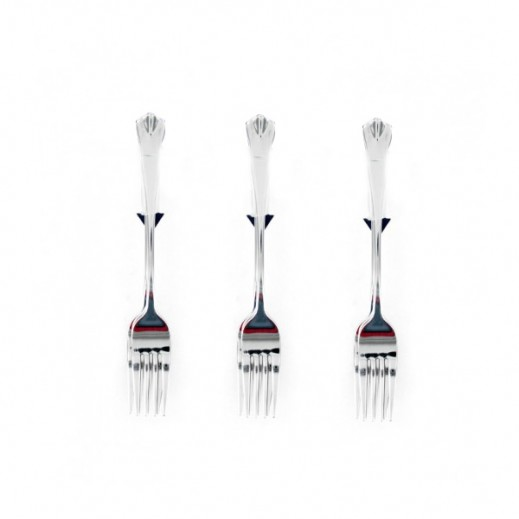 Korkmaz Violet 3 pieces Dessrt Fork Set