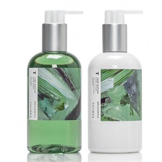 Thymes Jade Matcha Hand Care Set (Hand Wash + Hand Lotion)