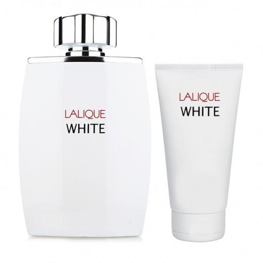 Lalique Gift Set White For Men EDT 125ml + Shower Gel