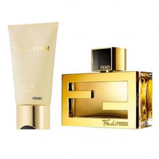 Fendi Gift Set For Women (Fan Di Fendi EDP 75ml + Body Lotion 75ml)