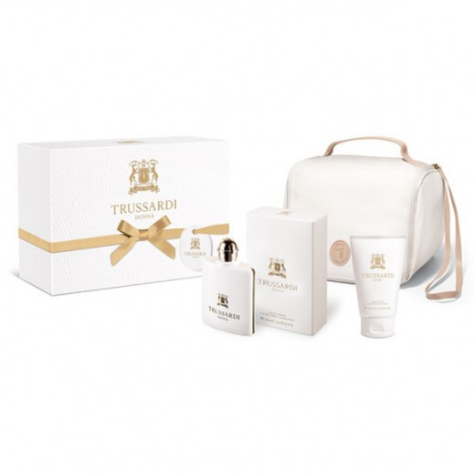 Trussardi Donna Gift Set For Women (EDP Fragrance 100ml + Body Lotion 100ml + Handbag)