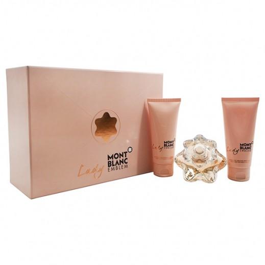 Mont Blanc Set Lady Emblem For Women EDP 75ml + Body Lotion 100 + Shower Gel 100 ml