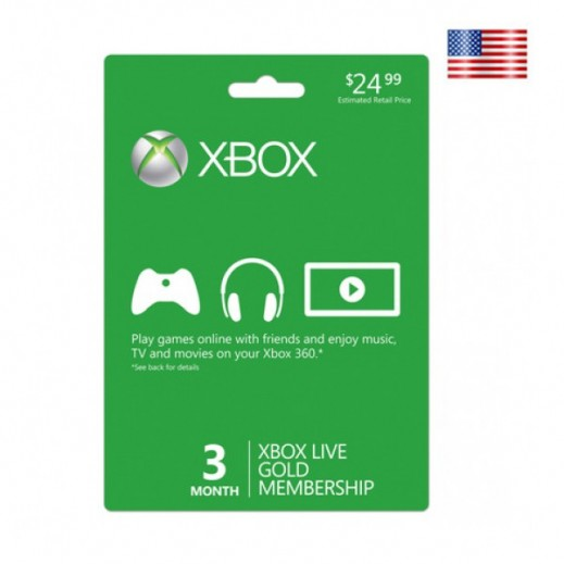 Xbox 360 Live 3 Months Gold Member Ship