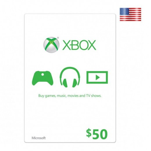 $50 Xbox Live Gift Card - US Store