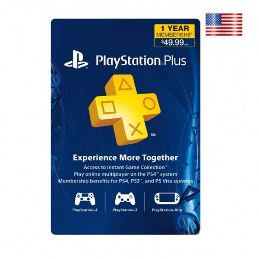 12 Months Playstation Plus - US