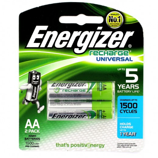 Energizer Recharge AA Battery 2 Pack