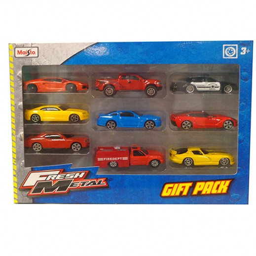 Maisto Matal Cars 9 Pcs Pack