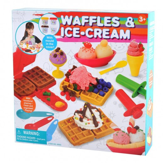 PlayGo Waffles & Ice-Cream Clay Dough