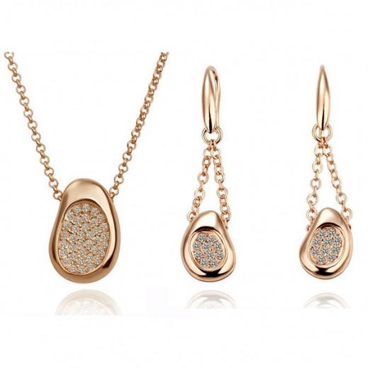 Nixon 18K Gold Plated Austrian Crystal Classic Rhinestone Jewellery Set (M00305)