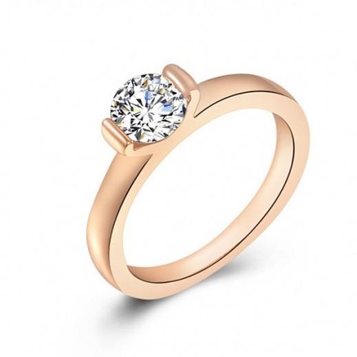 Nixon 18K Gold Plated 3 Times Rhinestone and Australian Crystal Wedding Ring , M00852