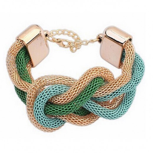Helen Fashion Gold Plated Green Bracelet, M01515
