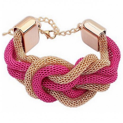 Helen Fashion Gold Plated Pink Bracelet, M01516