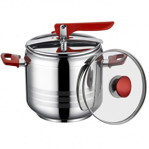 Berlin Pressure Cooker with Glass Lid 5 Ltr