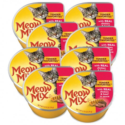 Meow Mix Chicken & Beef (Cats Food) 78 g (8 Pieces)