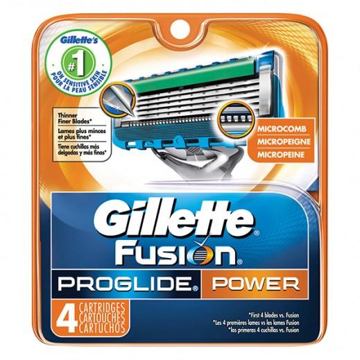 Gillette Fusion Proglide Power Men'S Razor Blade Refills, 4 Count
