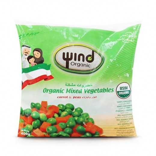 Wind Organic Peas & Carrots 400 Gms