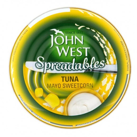 JohnWest Spreadables Tuna With Mayo Sweet Corn 80g