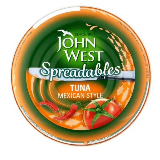 JohnWest Spreadables Tuna With Mexican Style Taste 80g