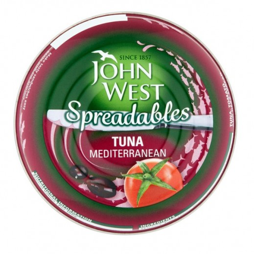 JohnWest Spreadables Tuna With Mediterranean Taste 80g