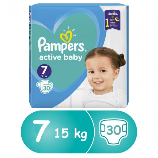 Pampers Diapers Stage 7 (15+ kg) 30 Pieces
