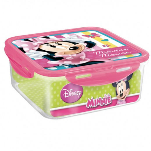 Disney Minnie Dots & Bows Square Food Container 750 ml