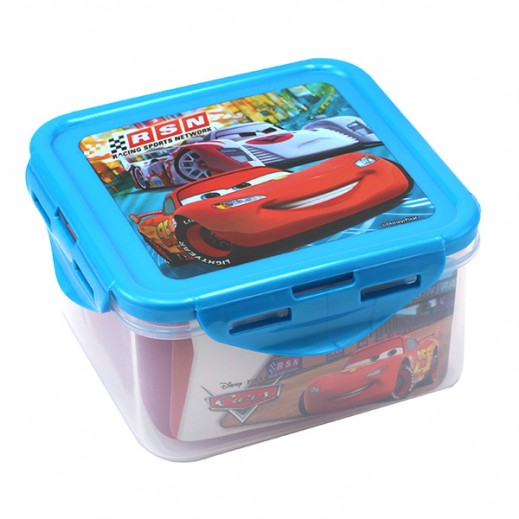Disney Cars Neon Racers Cup Square Food Container 730 ml