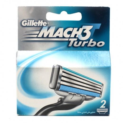 Gillette Mach3 Turbo Blades 2 Cartridges