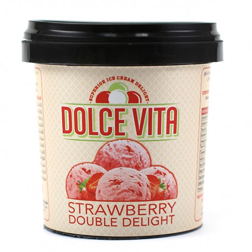KDD Dolce Vita Strawberry Double Delight ice Cream Cups 125 ml