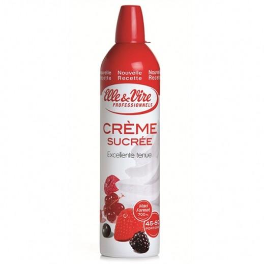 Elle&Vire Spray Whole Cream Sweetened 700g