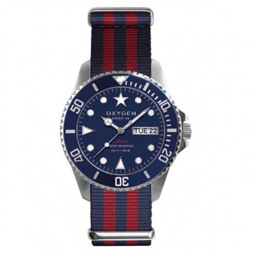 Oxygen Diver Admiral Watch For Men Navy / Red EX-D-ADM-44