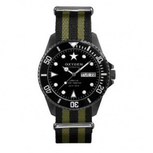 Oxygen Diver Moby Dick Watch For Men Black Kaki EX-D-MBB-44