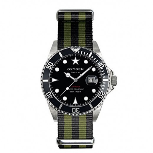 Oxygen Diver Moby Dick Watch For Men Black/Grey EX-D-MOB-44