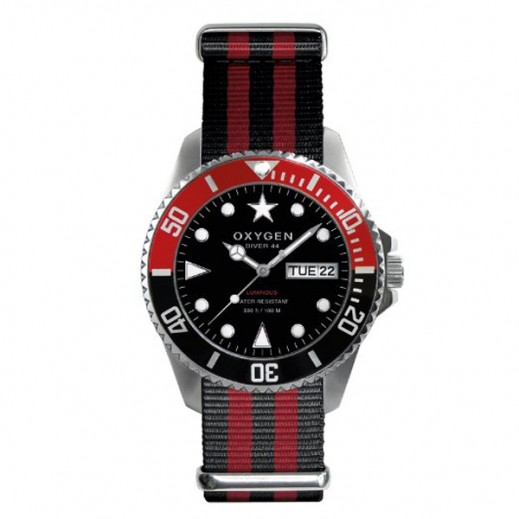 Oxygen Diver Sea Lion Watch For Men Black Red EX-D-SEA-44