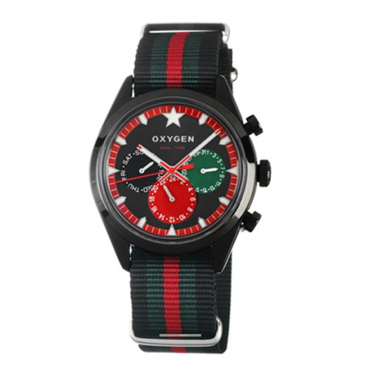 Oxygen Sport Dual Time Roma Black/Green/Red EX-SDT-ROM-40