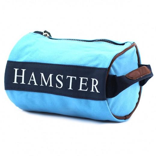 Hamster Mens Small Handbag Light Blue/Navy Blue